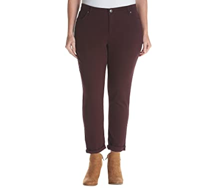 7dce7d82c15 Ruff Hewn Plus Size Skinny Jeans Zinfandel 22 W at Amazon Women s ...