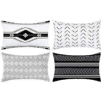 Amazon.com: Juego de 4 fundas de almohada de 17.7 x 17.7 in ...