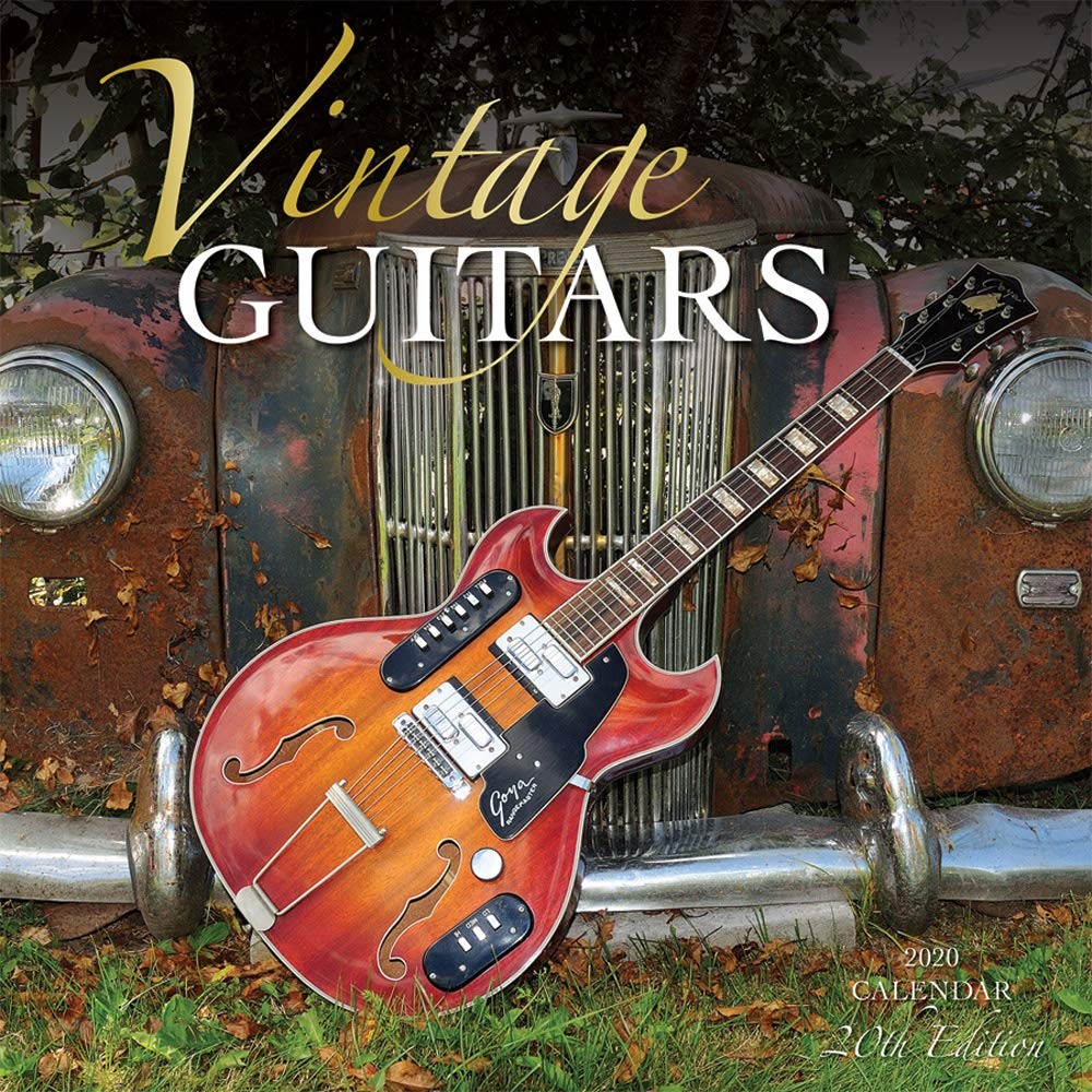 Vintage Guitars 2020 12 x 12 Inch Monthly Square Wall Calendar with Foil Stamped Cover by Wyman Publishing, Instrument Classic by Wyman Publishing