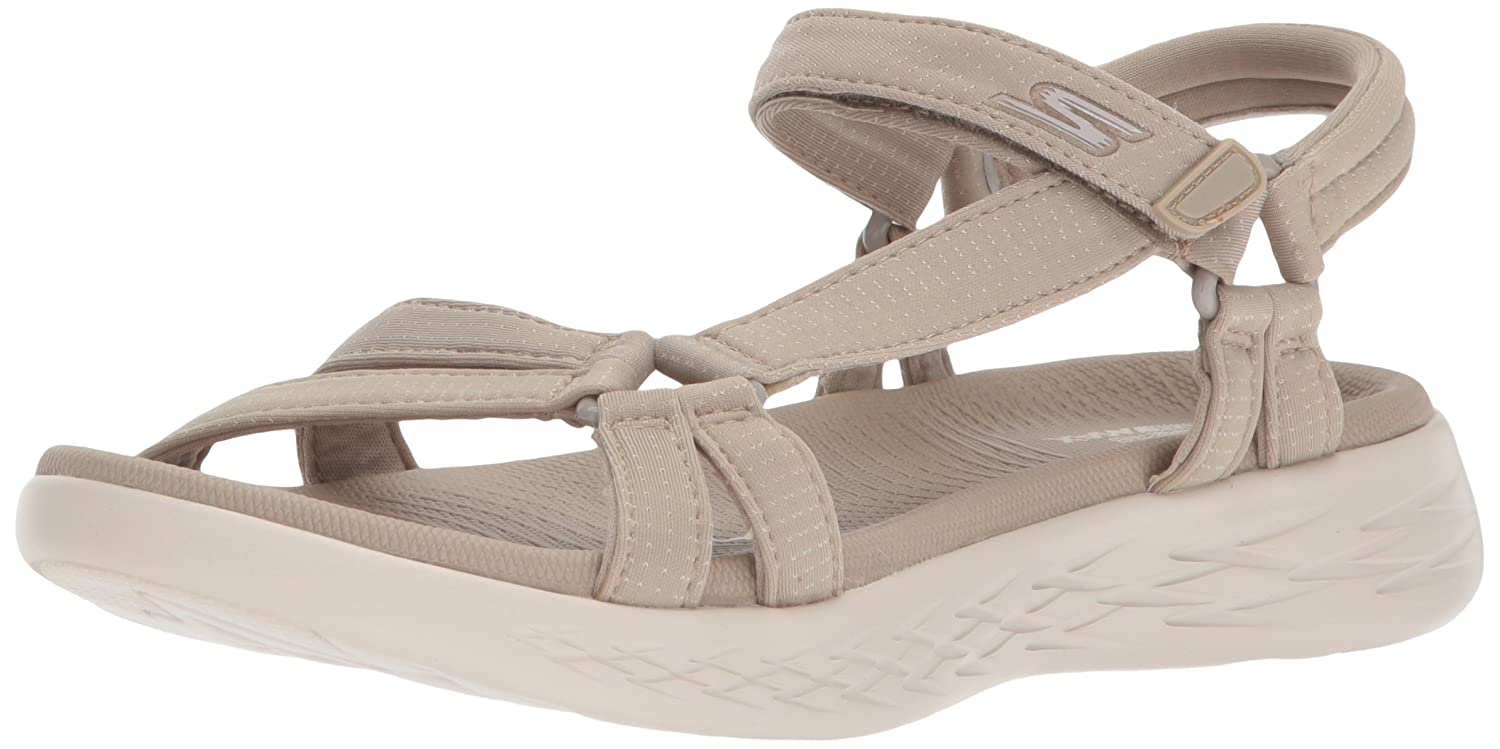 Skechers Women's on-The-Go 600-Brilliancy Sport Sandal B072T34MZY 7 B(M) US|Natural