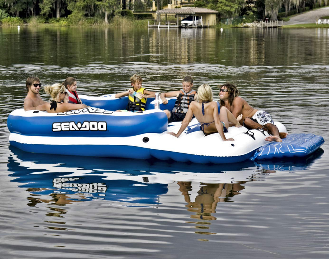 Sea-Doo B003E1XVOY 8人用 8人用 空気注入式 空気注入式 メガアイランドレイクフロート スピーカーミュージックシステム4個付き B003E1XVOY, 期間限定特別価格:e22684dd --- itxassou.fr