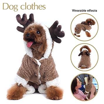 947d3ea47db09 Costume pour chien Renne de Noël Pull à capuche  Amazon.fr  Animalerie