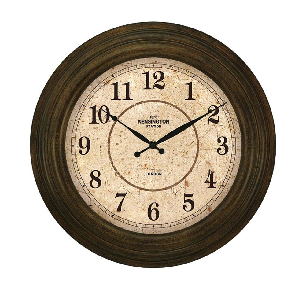 ノスタルジアウォールクロック、リビングルームレストランベッドルームバーウォールクロックコーヒーショップティーハウスビンテージウォールクロック直径38センチメートル (色 : #3, サイズ さいず : 38*38cm) B07D2G4G9X#3 38*38cm