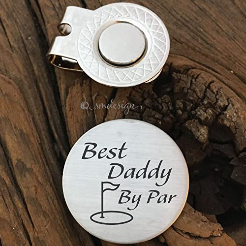 Best Daddy By Par Ball Marker Golf Gift Dad Wedding Idea For