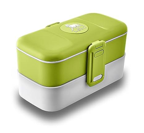 LeOx Lunchbox - Fiambrera con dos compartimentos para ...