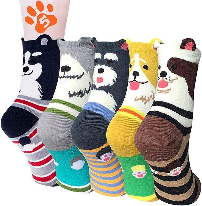 Calcetines mujer invierno 5 pares, calcetines de algodón ...
