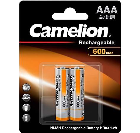 Camelion 17006203 - Pilas recargables (2 unidades, R03, AAA, 600 mAh): Amazon.es: Electrónica