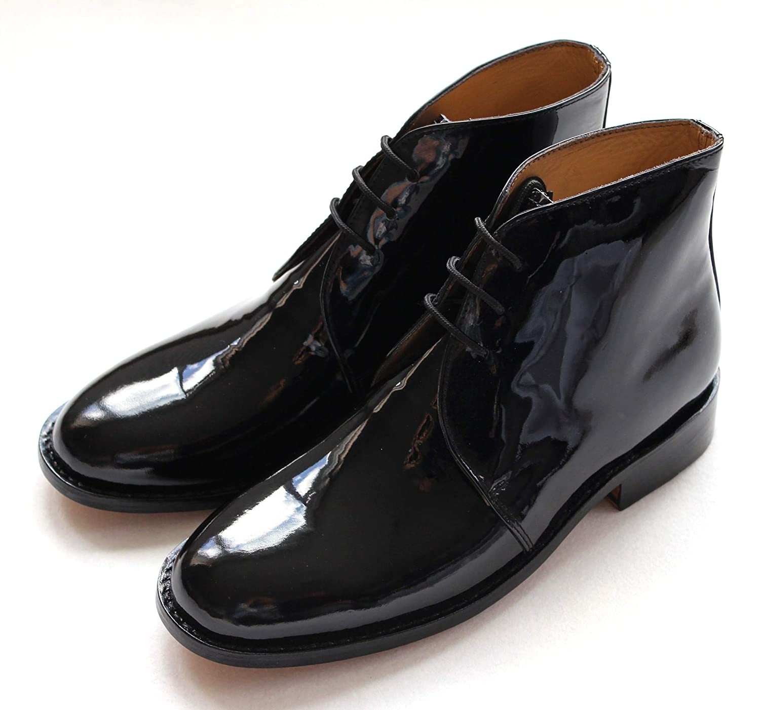 AE Struthers - Thistle Executive Patent Leather Custom Grade Good Year Welted George Boot Mess Cadet RRP £ 60