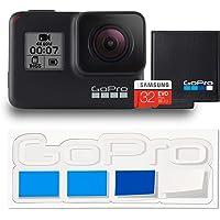 【公式ストア限定】GoPro HERO7 Black + 認定SDカード + バッテリー + 非売品ステッカー セット CHDHX-701-FW ゴープロ ヒーロー7 ブラック 【GoPro公式国内正規品】