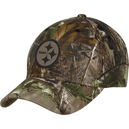 50833804c Image Unavailable. Image not available for. Color  Reebok Pittsburgh  Steelers Realtree Camo Structured Hat Adjustable