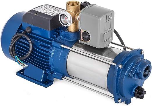 ZGYQGOO MC-1800 Bomba Agua centrífuga Refuerzo 9000 L/H Granja con Interruptor Bomba Chorro 1800W Bomba Agua para jardín (MC-1800 con Control): Amazon.es: Hogar