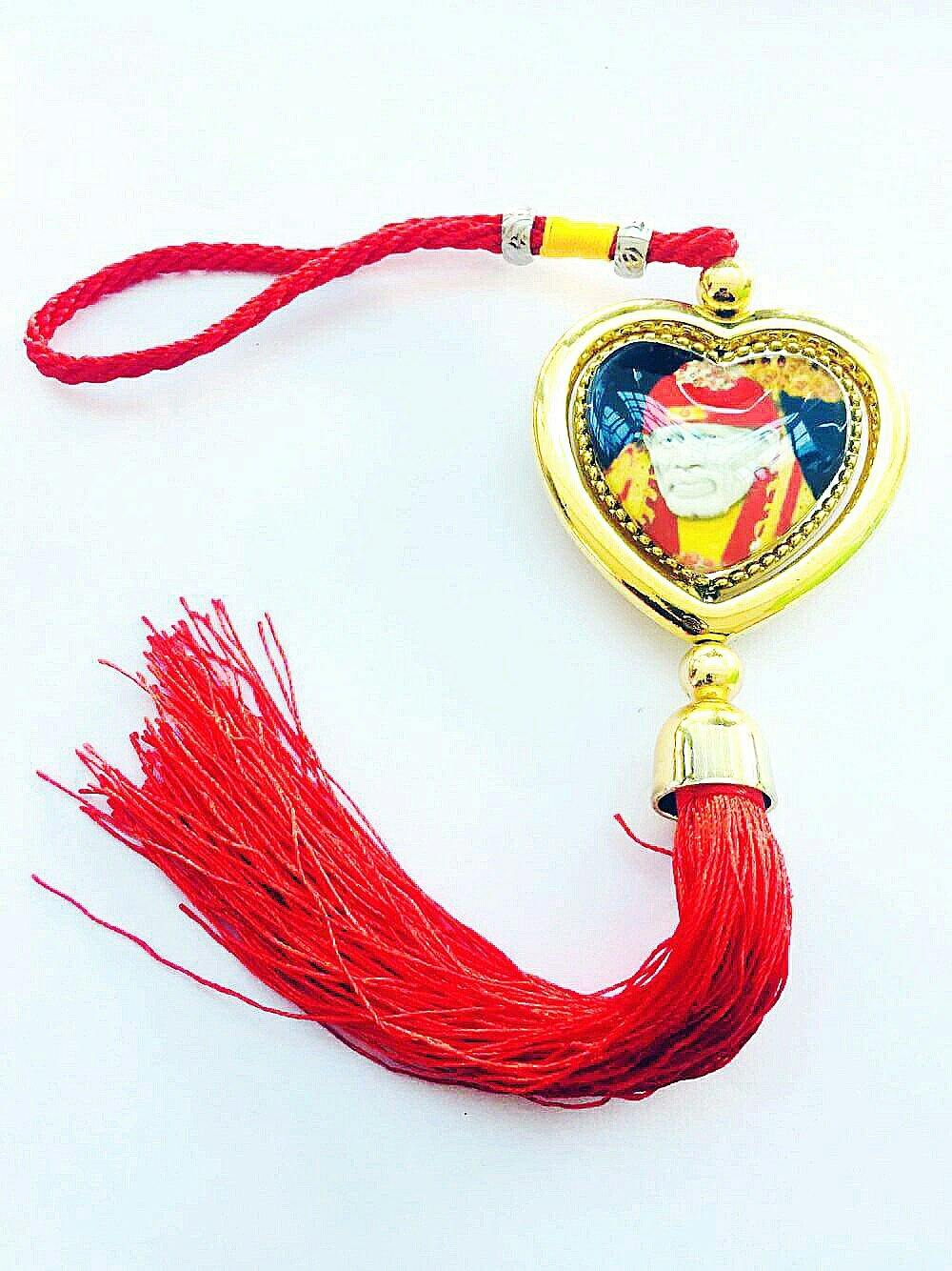 Lord SAIBABA Yantra (Vehicle Accident Protection Yantra) Car Hanging for Wealth and Safe, Ward Off Evil, Protect Peace Car Hanging Door Hanging Wall Hanging Good Luck Blessings