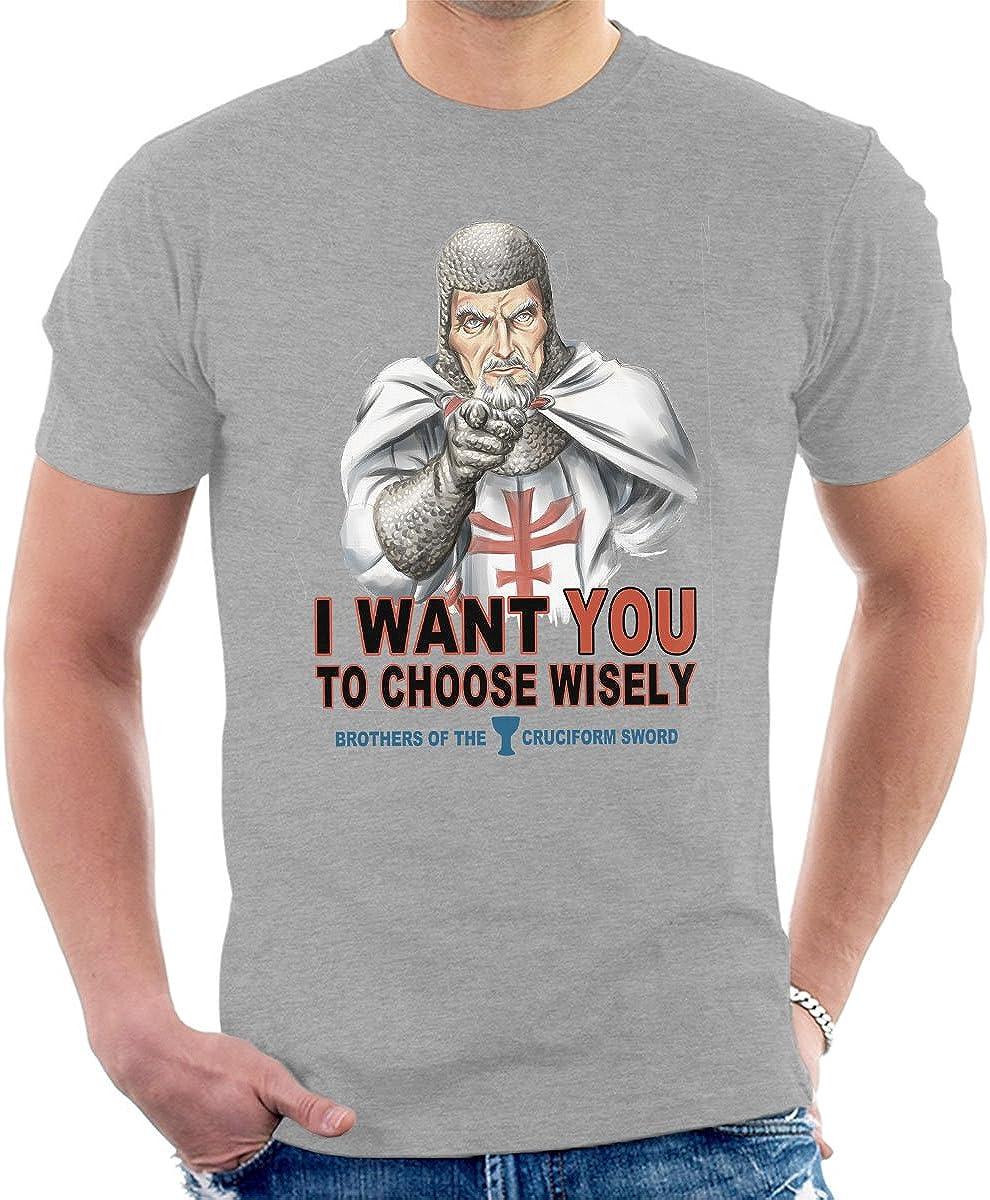 Indiana Jones Uncle Sam Choose Wisely Mens T-Shirt: Amazon.es: Ropa y accesorios