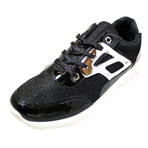 JT - Zapatillas de Material Sintético para mujer Dorado dorado: Amazon.es: Zapatos y complementos