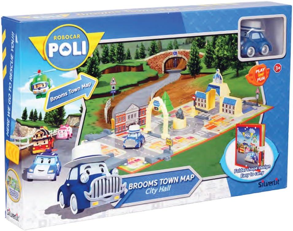 Rocco Juguetes 83279 – Robocar Poli brooms Town Map City Hall , color/modelo surtido: Amazon.es: Juguetes y juegos