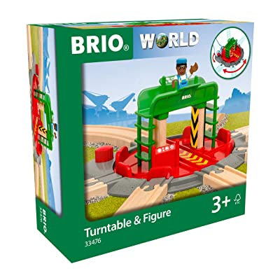 Brio World 33476 - Turntable & Figure - 2 Piece Wooden Toy Train Accessory for Kids Ages 3 and Up: Toys & Games