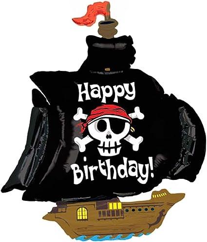 Amazon.com: Con forma de barco pirata Jumbo Foil Balloon ...