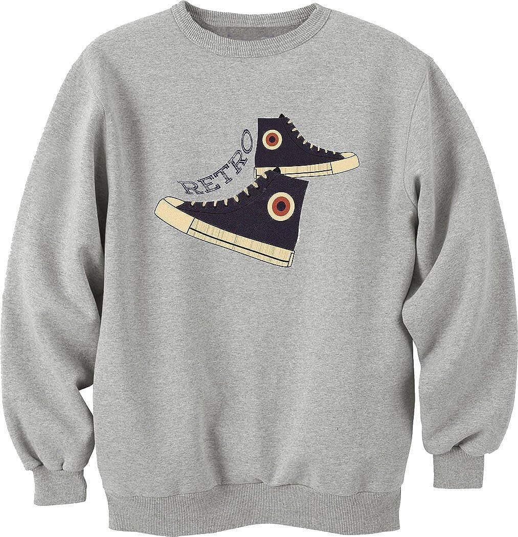 Nothingtowear Retro Logo Sneakers Funny Old School Sweatshirt Pullover Unisex