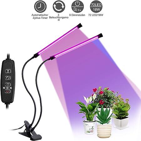 Lampe de Croissance Lampe Plante 40 Leds Port USB Fonction Timer 5 Niveaux de Luminosit/é