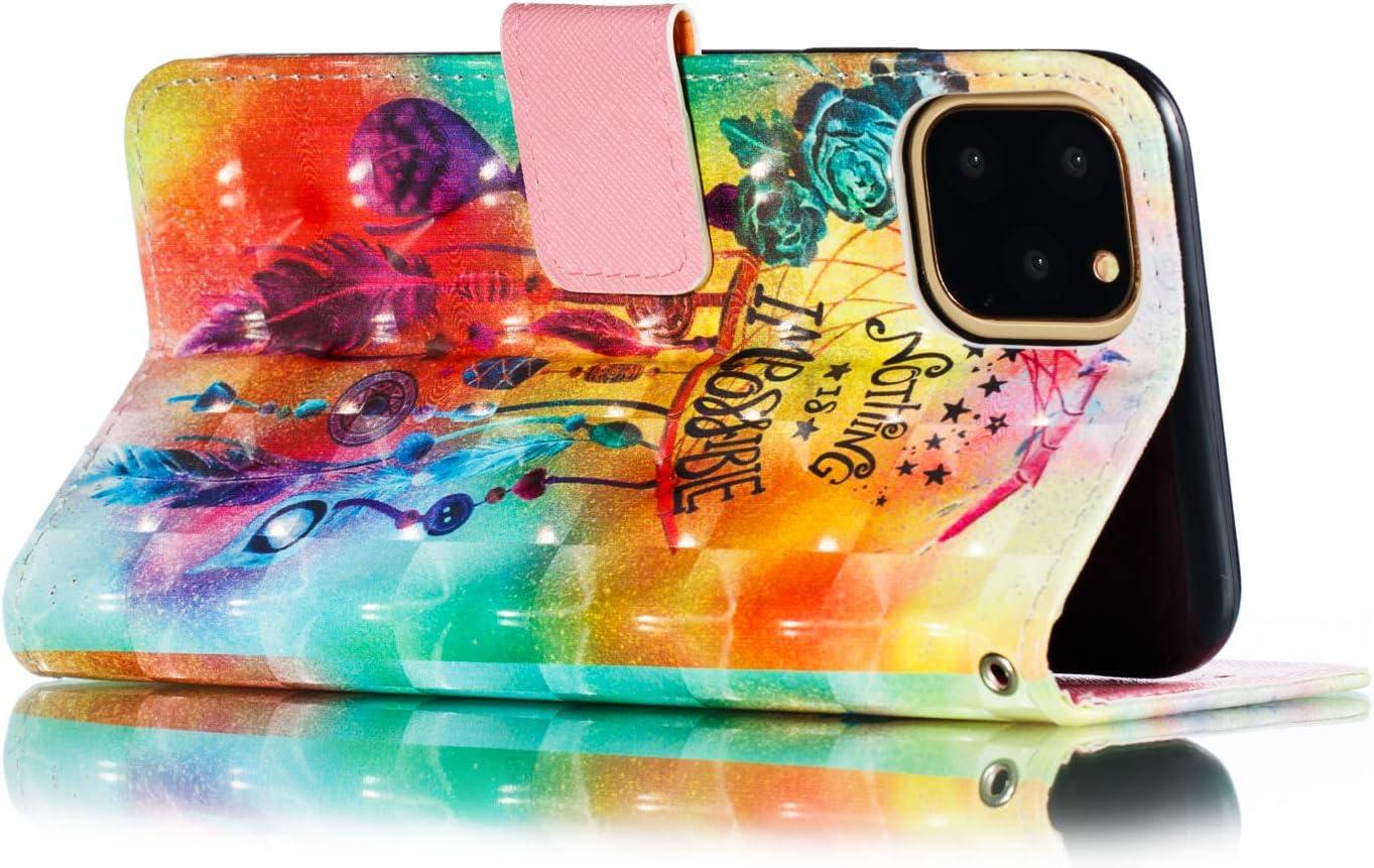 Mode Cr/éatif Effet 3D Mod/èle D/ésign /Étui de Protection Housse en PU Cuir avec TPU Silicone Souple Phone Case Carillons Eoliens 4,7 Pouces Grandoin Coque pour iPhone 6S // iPhone 6
