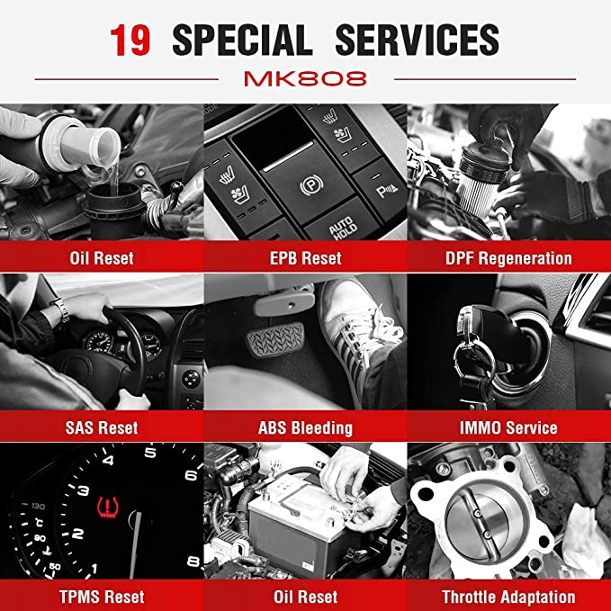 Autel Maxicom Mk808 Obd2 Diagnostic Scan Tool With All System And Service Functions Including Oil Reset Epb Bms Sas Dpf Tpm And Immo Md802 Maxicheck Pro Auto