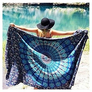 Sannysis Toallas de playa, Indian Mandala Beach Towel, kimono Túnica, 148cm x 210cm (J): Amazon.es: Hogar