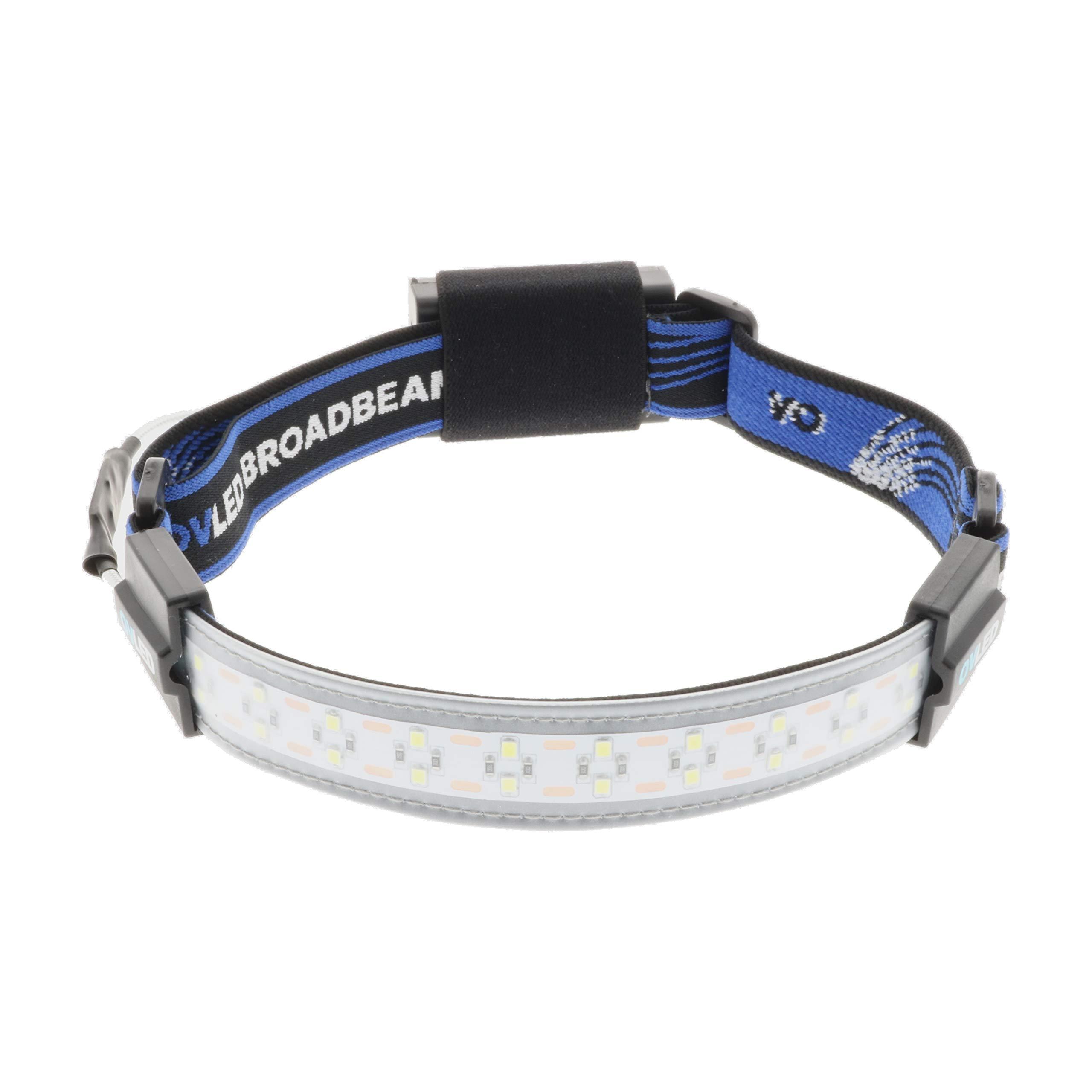 OV LED 802100 Broadbeam LED Headlamp, Ultra-Low Profile Durable Elastic Headband, Camping, Hunting, Runners, Hiking, Outdoors, Fishing, 210° Illumination, 300 Lumens, 20 Bright LED Lights, 3 AAA Battery Powered, 3 Power Settings by Optimal Ventures