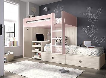Ambiato lit mezzanine pour chambre d enfant bureau intégré
