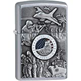 Zippo 24457 Classic Joined Forces Emblem Lighter (Silver)