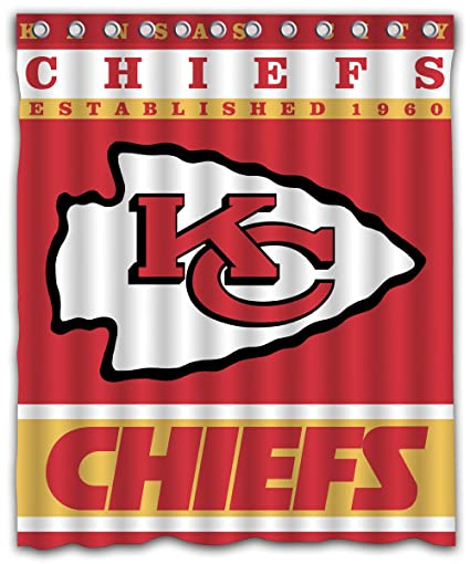 Image Unavailable Not Available For Color Sonaby Custom Kansas City Chiefs Waterproof Fabric Shower Curtain