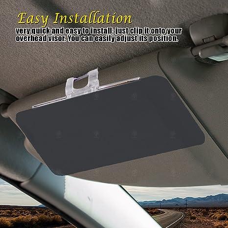 Amazon.com  VaygWay Car Windshield Sun Visor- Anti Glare Tinted Sun  Blocker- Window Sun UV Rays Shade- Universal Fit Vehicles Cars 74523b5f468