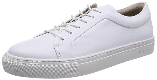 Jack & Jones Jfwsputnik Leather White, Scarpe da Ginnastica