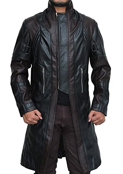 Mens Black Leather Coat - Classic Mens Leather Trench Coat Jackets ...