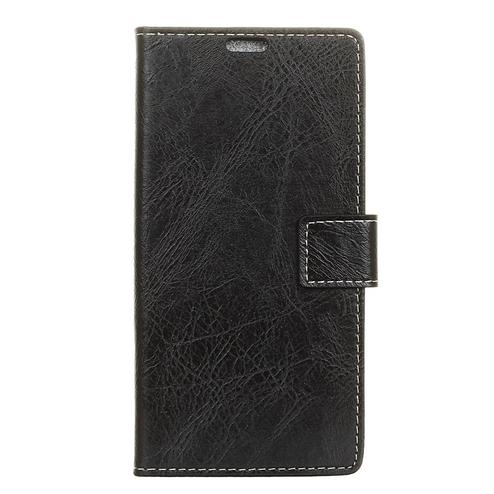 ASUS ZenFone Max M2 ZB633KL ケース 【Huy】 財布型 [スタンド式] 上質PUレザー 手帳型 ケース カバー B07MZR7ZRZ 黒