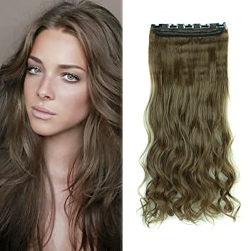 Amazon.com  Charming Women Clip in Hair Extension 29 inch Long ... d96a7731fc0f
