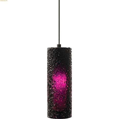 Lbl lighting hs547prsc1bfsj mini rock candy cylindrical fusion jack low voltage pendant