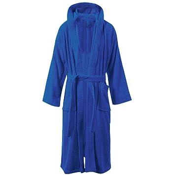 ES Living - Albornoz con Capucha para niños y niñas, 100% algodón, para niños de 11 a 16 años, Azul Real, 8-10: Amazon.es: Hogar