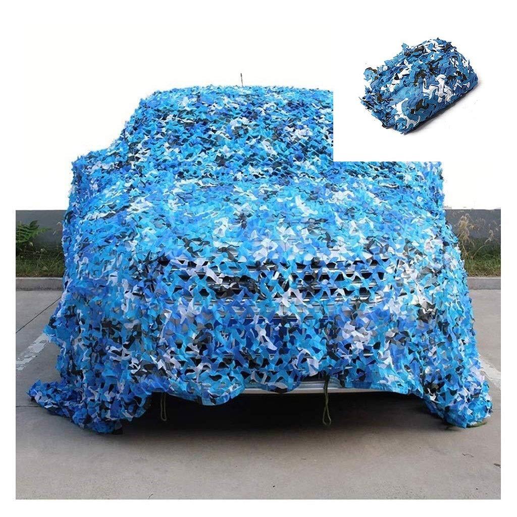 66M(19.719.7ft) Camouflage Filet Bleu 5x8m écran Solaire, Couverture De Voiture Décoration De Jardin Filet Auvent Prougeection Extérieure Photographie Photographie Piscine écran Solaire Tente Peut Être Personnalisé