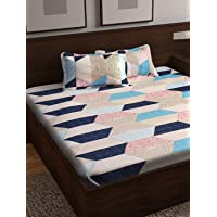 Story@Home Majestic 152 TC Cotton Double Bedsheet with 2 Pillow Cover