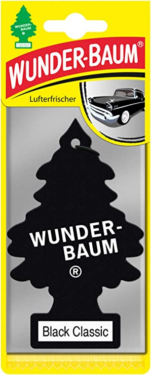 Herchr Little Trees Miracle Tree Hanging Air Freshener Office Or Aromatherapy Perfume On Car Black Classic Auto