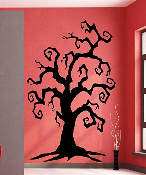 Amazoncom Stickerbrand Holiday Vinyl Wall Art Spooky Tree Wall - How to put up a tree wall decal
