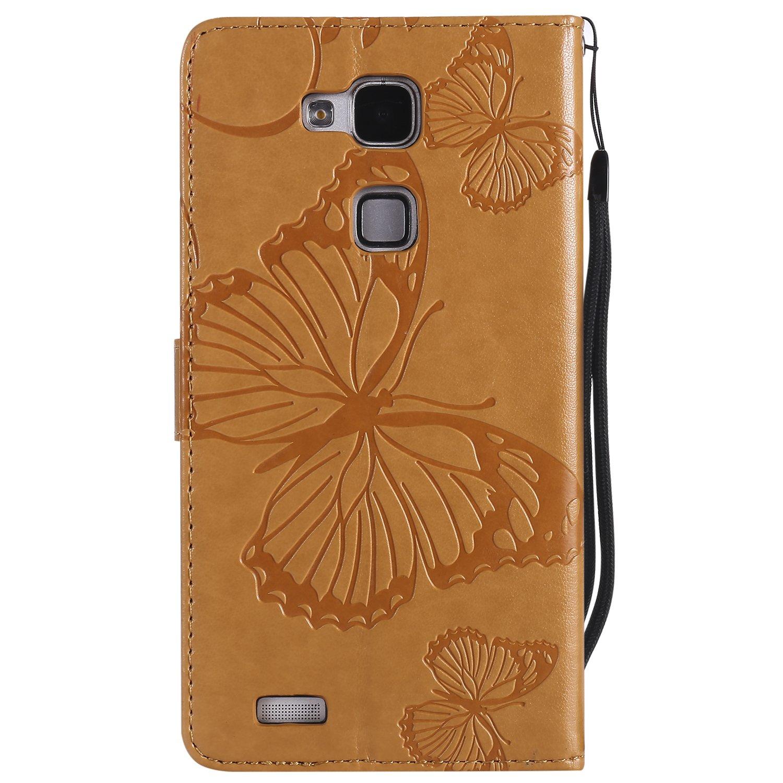 Brieftasche Flip PU Leder ledercaseH/ülle Kartenf/ächer 3D Butterfly 3D Schmetterling Embossed Technology f/ür/Huawei Honor 6X-(Blau) TOUCASA Huawei Honor 6X Handyh/ülle,Huawei Honor 6X H/ülle