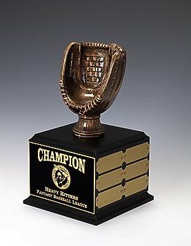 Perpetuo De Béisbol Guante de béisbol trofeo, oro antiguo, 12 años, personalizado grabado: Amazon.es: Deportes y aire libre