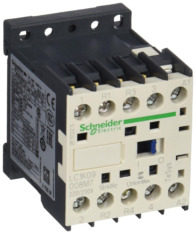 Schneider Electric LC1K09008M7 Contactor 220/230V, Contactor-2No 2Nc 20A Ac1 Poles