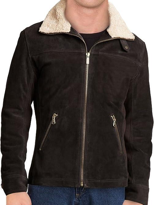Walking Dead Rick Grimes Season 5 Leather Jacket with Fur Collar