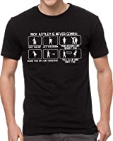 Crazy Happy Tees Men's Rick Astley Is Nerver Gonna a Give You Up... Black