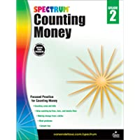 Spectrum Counting Money Workbook―Grade 2 Math Practice Counting Coins and Bills, Skip-Counting, Making Change, Classroom…
