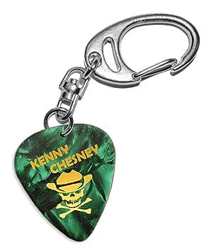 Kenny Chesney Púa de Guitarra Llavero Keyring Green Pearl ...