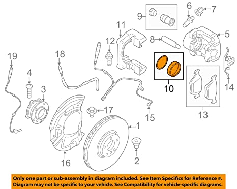 bmw genuine front brake repair kit - brake caliper for 525i 528i 525i 525xi  530i 530xi