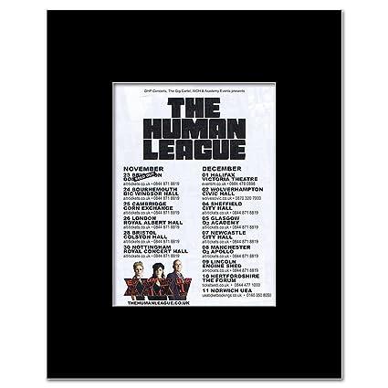 Amazon.com: Music Ad World HUMAN LEAGUE - UK Tour 2012 Mini ...
